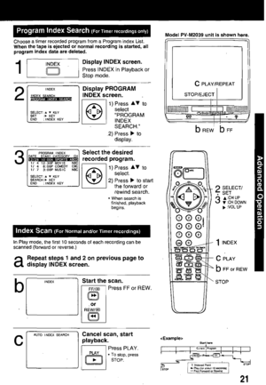 Panasonic Combination Vcr Pv M1339 Operating Instructions