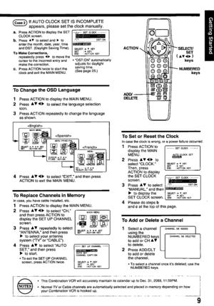 Panasonic Combination Vcr Pv M1378 Operating Instructions