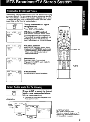 Panasonic Combination Vcr Pv M2759 Operating Instructions