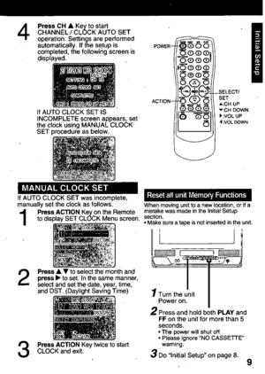 Panasonic Combination Vcr Pv C2011 Operating Instructions
