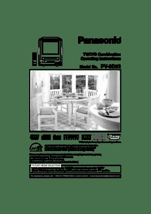 Panasonic Tv Dvd Combination Pv 9d53 Operating Instructions