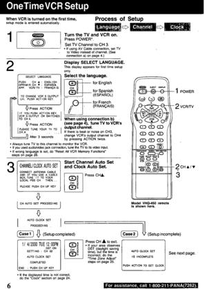 Panasonic Video Cassette Recorder Vhq 400 Operating