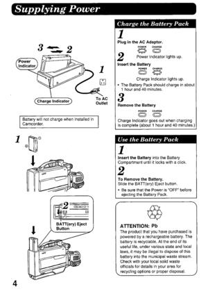 Panasonic Camcorder AG-188U Operating Instructions