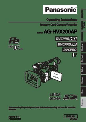 Panasonic Memory Card Camera Recorder AG-HVX200AP