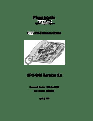 Panasonic Dbs 824 Instructions Manual