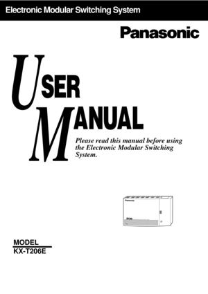 Panasonic Kx-T206e User Manual