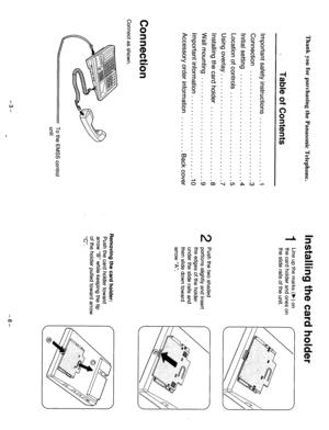 Panasonic Kx-T7130 Reference Manual