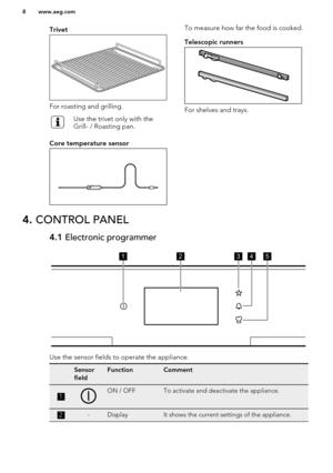 AEG Oven BP831660KM User Manual