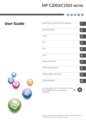 Ricoh Mp C2003 User Guide