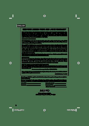 Sanyo DP32670 Hdtv Lcd Owners Manual