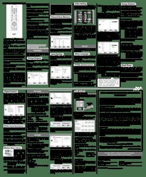 Sanyo FVD5833 Hdtv Lcd Owners Manual