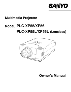 Sanyo Projector Plc Xp55 User Manual