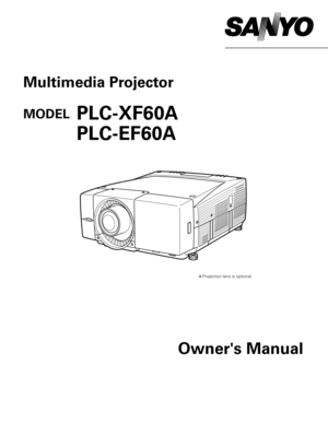 Sanyo Plc Ef60a Projector User Manual