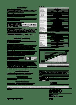 Sanyo Projector Plc Xu87 Specifications