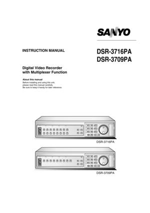 Sanyo Dsr 3716 P Manual