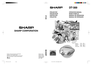 Sharp Projector Dt 300 User Manual