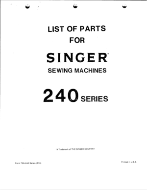 Singer Facilita 248 R Manual