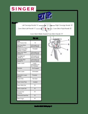 Singer Professional 5 Manual