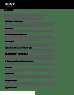 Sony Camera Cyber Shot Dsc Hx10v Specifications