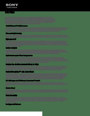 Sony Camera Cyber Shot Dsc Tx66 Specifications