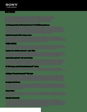 Sony Camera Cyber Shot Dsc Wx50 Specifications