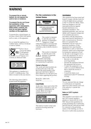 Sony Dav C450 Operating Instructions