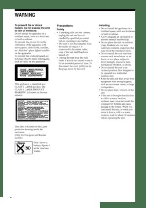 Sony Dav S800 Operating Instructions