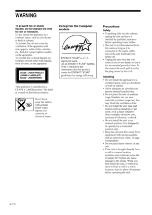Sony Dav S888 Operating Instructions