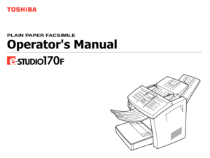 Toshiba Estudio 170f Manual