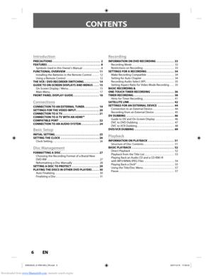 Toshiba Dvr610 User Manual