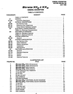 Toshiba Strata Xiie, Strata Xxe Electronic Key Telephone