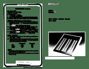 Toshiba Strata E Direct Station Selection Console User Guide