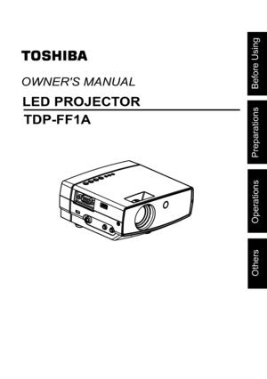 Toshiba Projector Tdp Ff1 User Manual