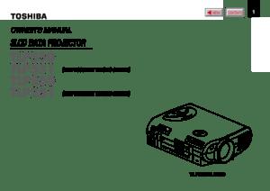 Toshiba Tlp 250 Projector User Manual