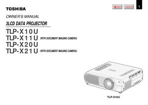 Toshiba Projector Tlp X11u User Manual