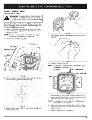 Troy-Bilt 4 Cycle Trimmer Repair Manual