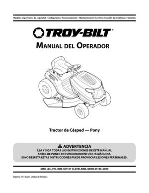 Troy-Bilt 7 Speed Pony Manual