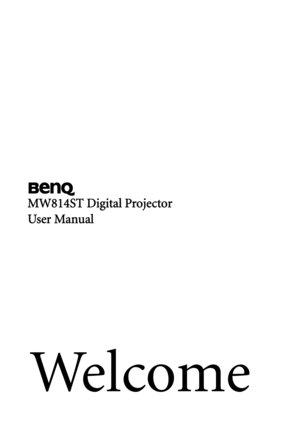 BenQ Mw814st Digital Projector User Manual