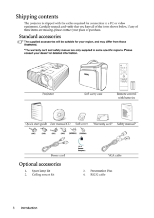 BenQ Mp730 Digital Projector User Manual