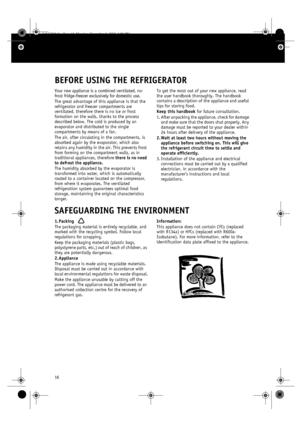 Whirlpool ARC 4020 IX Manual