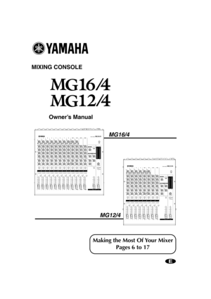Yamaha Mg164 Owners Manual