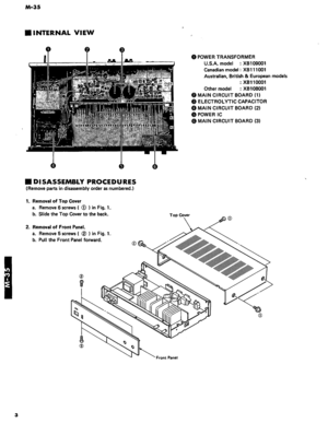 Yamaha M-35 Service Manual
