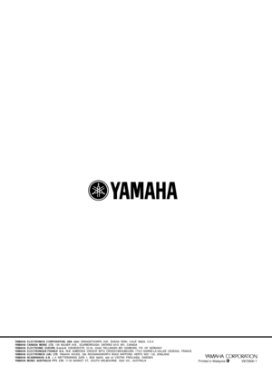 Yamaha Vs 10 Owners Manual