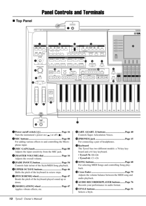 Yamaha Tyros 5 Owners Manual