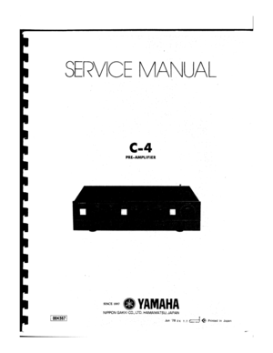Yamaha C4 Service Manual