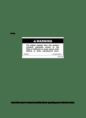 Yamaha F 15 Owners Manual