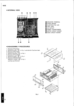Yamaha M 65 Service Manual