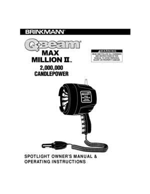 Brinkmann Brinkman Qbeam Max Million Ii 2,000,000