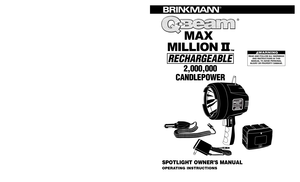 Brinkmann Qbeam Max Million Ii Rechargeable 2,000,000