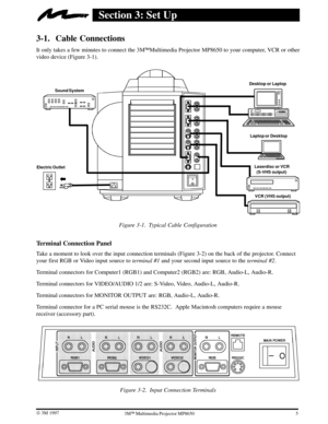 3M Multimedia Projector Mp8650 Operators Manual